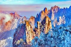 Picos coloridos del parque nacional de Huangshan Fotografía de archivo libre de regalías