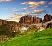 Picos da dolomite, Sella imagens de stock royalty free