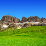 Picos da dolomite, Sella Foto de Stock