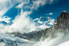 Picos de Europa国家公园,阿斯图里亚斯,西班牙山  免版税库存照片