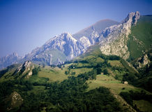 Picos de europa mountains Royalty Free Stock Images