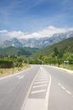 Picos de Europa mountains with clouds Stock Photo