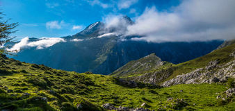 Picos de Europa. Mountains and clouds Stock Images