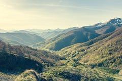 Picos de Europa mountains next to Fuente De village Cantabria Spain. Picos de Europa mountains next to Fuente De village Cantabria Spain royalty free stock photos