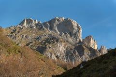 Picos de Europa mountains next to Fuente De village Cantabria Spain. Picos de Europa mountains next to Fuente De village Cantabria Spain royalty free stock images