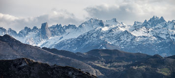 Picos de Europa and Naranjo de Bulnes Royalty Free Stock Image