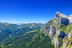 Picos de Europa seen from Fuente De Stock Photography