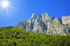Picos de Europa at a sunny day Stock Photos