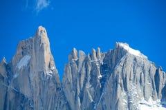 Picos de Fitz Roy e de Cerro Torre Fotografia de Stock