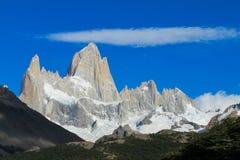 Picos de Fitz Roy e de Cerro Torre Imagem de Stock