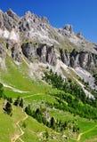 Picos de la dolomía, Rosengarten Imagen de archivo libre de regalías