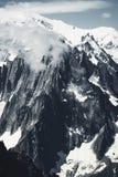Picos de la montaña y de la nieve de Francia fotos de archivo libres de regalías
