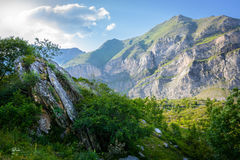 Picos de los Pirineos Fotografía de archivo libre de regalías