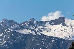 Picos de montaña Fotos de archivo libres de regalías