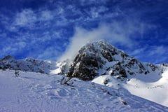 Picos de montaña congelados Fotografía de archivo libre de regalías