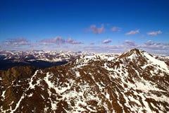 Picos de montaña de Colorado Imágenes de archivo libres de regalías