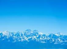 Picos de montaña de Everest y de Lhotse, Nepal Fotos de archivo