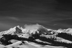 Picos de montaña de Hoback en la gama de Gros Ventre en Rocky Mountains central en Wyoming Imagen de archivo libre de regalías