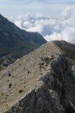 Picos de montaña de Montenegro Fotografía de archivo