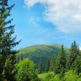 Picos de montaña escénicos fotos de archivo libres de regalías