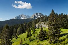 Picos de montanha Fotos de Stock Royalty Free