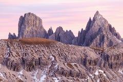 Picos de montanha das dolomites Imagens de Stock