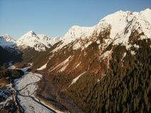 Picos de montanha em Alaska imagens de stock royalty free