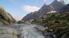 Picos de montanha em cumes franceses, Ecrins filme