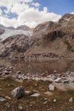 Picos de montanha em cumes franceses, Ecrins, França Foto de Stock Royalty Free