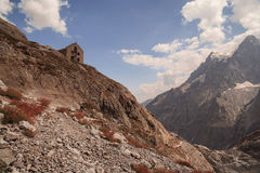Picos de montanha em cumes franceses, Ecrins, França Imagem de Stock Royalty Free