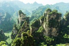Picos de montanha em Zhangjiajie, China Foto de Stock Royalty Free
