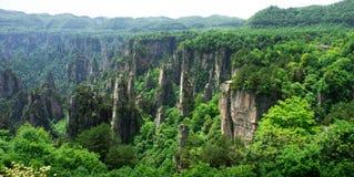 Picos de montanha em Zhangjiajie, China Fotos de Stock Royalty Free