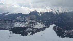 Picos de montanha nevado Imagens de Stock