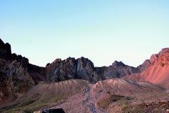 Picos de Pioner y de Uchitel Imagen de archivo libre de regalías