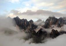 Picos de una montaña Fotografía de archivo libre de regalías