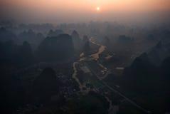 Picos de Yangshuo Imagens de Stock Royalty Free