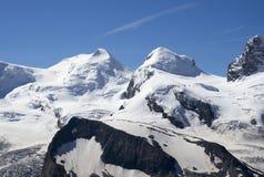 Picos del echador y de Pólux Fotografía de archivo