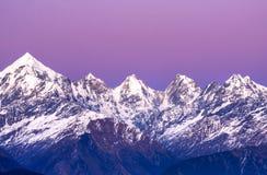 picos del panchachuli Fotografía de archivo libre de regalías