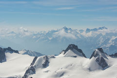 Picos dos cumes franceses Imagens de Stock Royalty Free