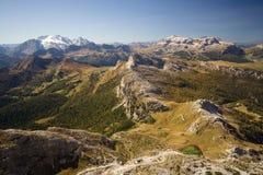 Picos elevados nas dolomites Imagens de Stock Royalty Free