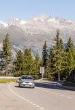 Picos en la montaña imagen de archivo libre de regalías