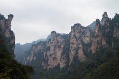 Picos en Zhangjiajie Foto de archivo