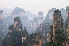 Picos en Zhangjiajie Fotos de archivo