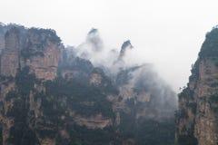 Picos en Zhangjiajie Fotografía de archivo libre de regalías