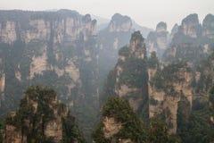 Picos en Zhangjiajie Fotografía de archivo
