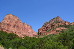 Picos en Zion National Park Foto de archivo