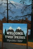 Picos gêmeos Foto de Stock