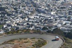 Picos gemelos, San Francisco, los E.E.U.U. Imágenes de archivo libres de regalías