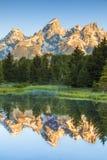 Picos grandes de Teton Imagem de Stock Royalty Free