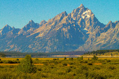 Picos grandes de Teton Imagem de Stock